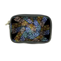 Multi Color Tile Twirl Octagon Coin Purse by Nexatart