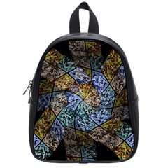 Multi Color Tile Twirl Octagon School Bag (small) by Nexatart