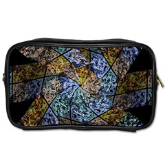 Multi Color Tile Twirl Octagon Toiletries Bags 2 Side by Nexatart