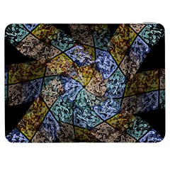 Multi Color Tile Twirl Octagon Samsung Galaxy Tab 7  P1000 Flip Case by Nexatart
