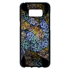 Multi Color Tile Twirl Octagon Samsung Galaxy S8 Plus Black Seamless Case by Nexatart