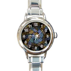 Multi Color Tile Twirl Octagon Round Italian Charm Watch by Nexatart