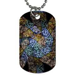 Multi Color Tile Twirl Octagon Dog Tag (one Side) by Nexatart