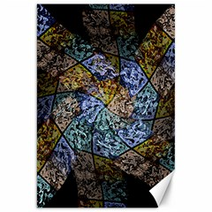 Multi Color Tile Twirl Octagon Canvas 20  X 30   by Nexatart