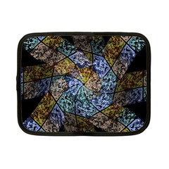 Multi Color Tile Twirl Octagon Netbook Case (small)  by Nexatart