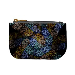 Multi Color Tile Twirl Octagon Mini Coin Purses by Nexatart