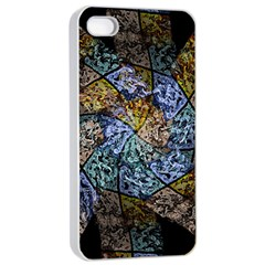 Multi Color Tile Twirl Octagon Apple Iphone 4/4s Seamless Case (white) by Nexatart