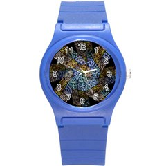 Multi Color Tile Twirl Octagon Round Plastic Sport Watch (s)