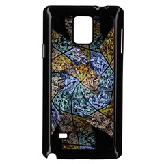 Multi Color Tile Twirl Octagon Samsung Galaxy Note 4 Case (black) by Nexatart