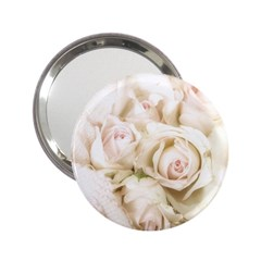 Pastel Roses Antique Vintage 2 25  Handbag Mirrors
