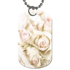 Pastel Roses Antique Vintage Dog Tag (one Side) by Nexatart