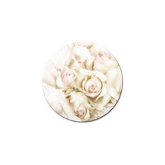Pastel Roses Antique Vintage Golf Ball Marker (10 Pack)