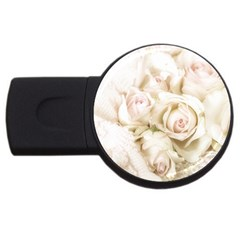 Pastel Roses Antique Vintage Usb Flash Drive Round (4 Gb) by Nexatart