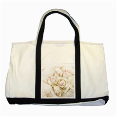 Pastel Roses Antique Vintage Two Tone Tote Bag by Nexatart