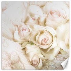 Pastel Roses Antique Vintage Canvas 20  X 20   by Nexatart