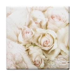 Pastel Roses Antique Vintage Face Towel