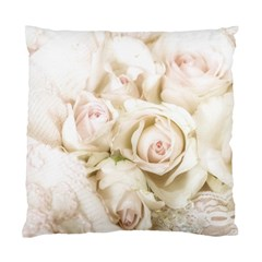 Pastel Roses Antique Vintage Standard Cushion Case (two Sides) by Nexatart