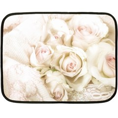 Pastel Roses Antique Vintage Double Sided Fleece Blanket (mini)  by Nexatart