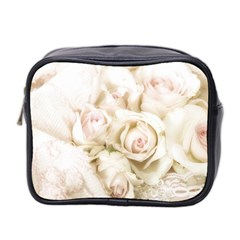 Pastel Roses Antique Vintage Mini Toiletries Bag 2-side by Nexatart