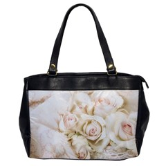 Pastel Roses Antique Vintage Office Handbags by Nexatart