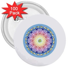 Mandala Universe Energy Om 3  Buttons (100 Pack)  by Nexatart