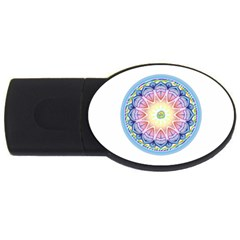 Mandala Universe Energy Om Usb Flash Drive Oval (4 Gb)