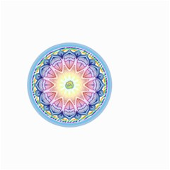Mandala Universe Energy Om Small Garden Flag (two Sides) by Nexatart