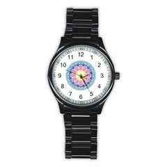Mandala Universe Energy Om Stainless Steel Round Watch