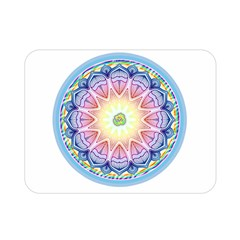 Mandala Universe Energy Om Double Sided Flano Blanket (mini)  by Nexatart