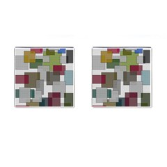 Decor Painting Design Texture Cufflinks (square) by Nexatart