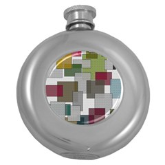 Decor Painting Design Texture Round Hip Flask (5 Oz) by Nexatart