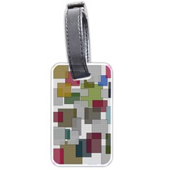 Decor Painting Design Texture Luggage Tags (two Sides)