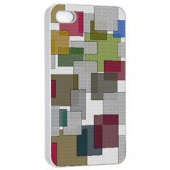 Decor Painting Design Texture Apple Iphone 4/4s Seamless Case (white)