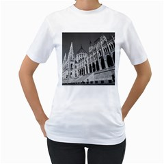 Architecture Parliament Landmark Women s T Shirt (white) (two Sided)