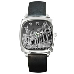 Architecture Parliament Landmark Square Metal Watch