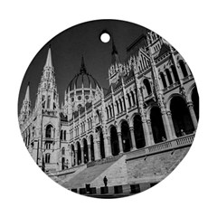 Architecture Parliament Landmark Round Ornament (two Sides) by Nexatart