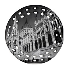 Architecture Parliament Landmark Round Filigree Ornament (two Sides) by Nexatart