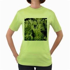 Pineapple Market Fruit Food Fresh Women s Green T Shirt
