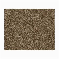 Leather Texture Brown Background Small Glasses Cloth