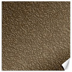 Leather Texture Brown Background Canvas 20  X 20   by Nexatart