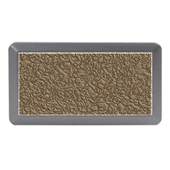 Leather Texture Brown Background Memory Card Reader (mini) by Nexatart