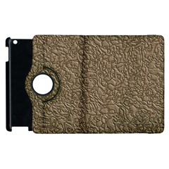 Leather Texture Brown Background Apple Ipad 3/4 Flip 360 Case by Nexatart