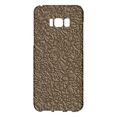 Leather Texture Brown Background Samsung Galaxy S8 Plus Hardshell Case  by Nexatart