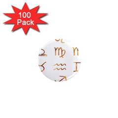 Signs Of The Zodiac Zodiac Aries 1  Mini Magnets (100 Pack)