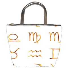 Signs Of The Zodiac Zodiac Aries Bucket Bags by Nexatart