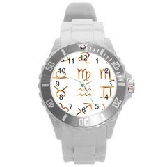 Signs Of The Zodiac Zodiac Aries Round Plastic Sport Watch (l)