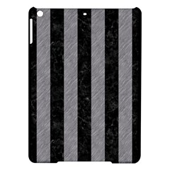 Stripes1 Black Marble & Gray Colored Pencil Ipad Air Hardshell Cases by trendistuff