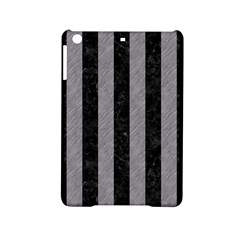 Stripes1 Black Marble & Gray Colored Pencil Ipad Mini 2 Hardshell Cases by trendistuff