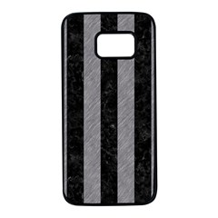 Stripes1 Black Marble & Gray Colored Pencil Samsung Galaxy S7 Black Seamless Case by trendistuff