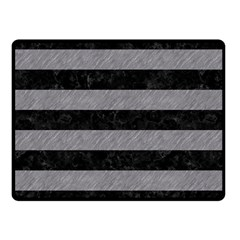 Stripes2 Black Marble & Gray Colored Pencil Fleece Blanket (small) by trendistuff